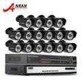 16CH H.264 Onvif NVR CCTV Sistema De Vigilância De Rede 6 TB HDD 1080 P HD POE CMOS 48IR Sensor 25fps Rede IP Ao Ar Livre câmera