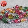 2017 Nuevo Para El Collar y la Pulsera 8-20mm Multicolor Turmalina Irregular Del Grano Jasper Beads Ronda Jade Piedra de Jade Joyería de DIY Que Hace