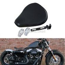 Motorcycle     13.6″ Spring Mounted Solo Seat For Customs Bobbers Honda Kawasaki Suzuki Yamaha