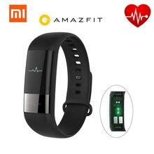 Xiaomi AMAZFIT Smartband Pulsera Inteligente HRV Fatiga monitor de ritmo cardíaco con la Tecla Táctil Pulsera Rastreador de Ejercicios para Android IOS