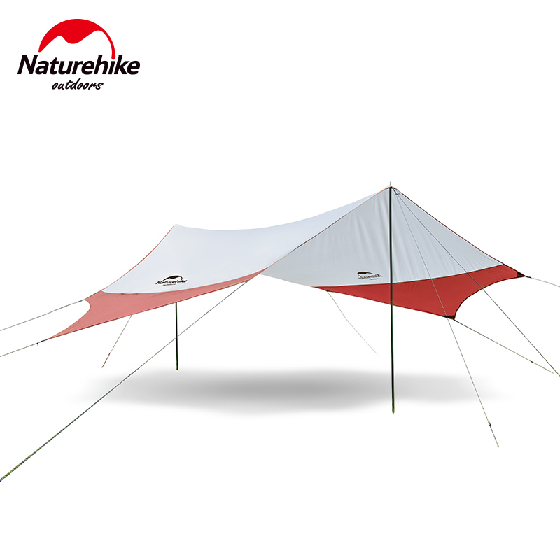 Naturehike Outdoor Awnig Beach Large Camping Tents Shelter The Sun Waterproof Ultralight Fast Build 400*350CM 2 Colors naturehike outdoor awnig beach large camping tents shelter the sun waterproof ultralight fast build 400 350cm nh16t012 s