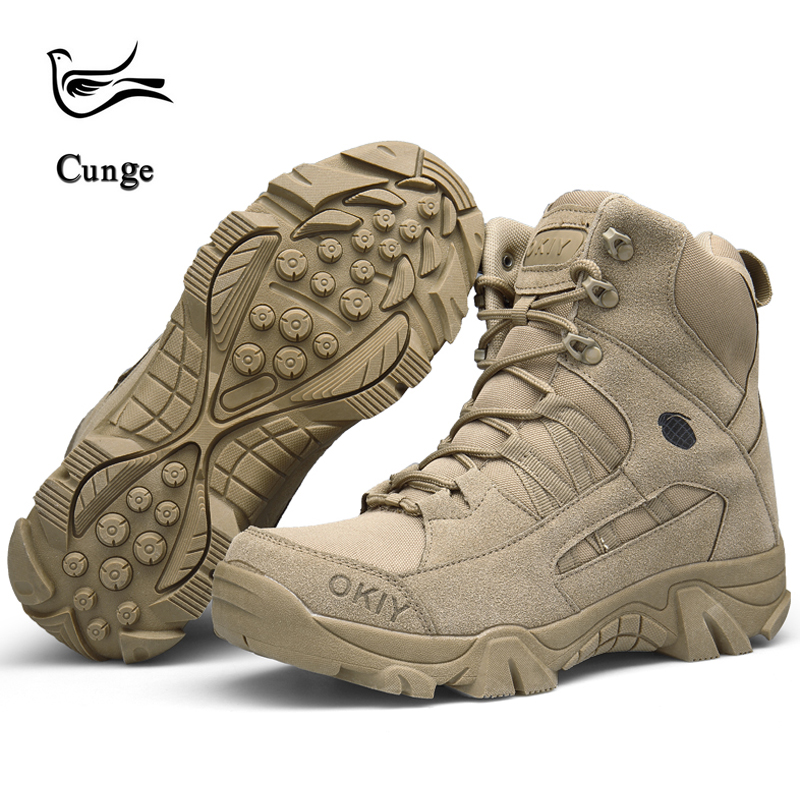Hot Sale Men Fashion Boots High quality Autumn Winter Military Tactical Boots Men Desert Combat Boots