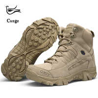 Hot Sale Men Fashion Boots High-quality Autumn Winter Military Tactical Boots Men Desert Combat Boots Outdoor Leather Boots