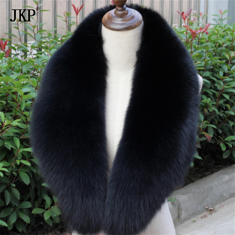 Free shipping /real handmade fox fur collar /scarf /black 80cm/90cm/100cm