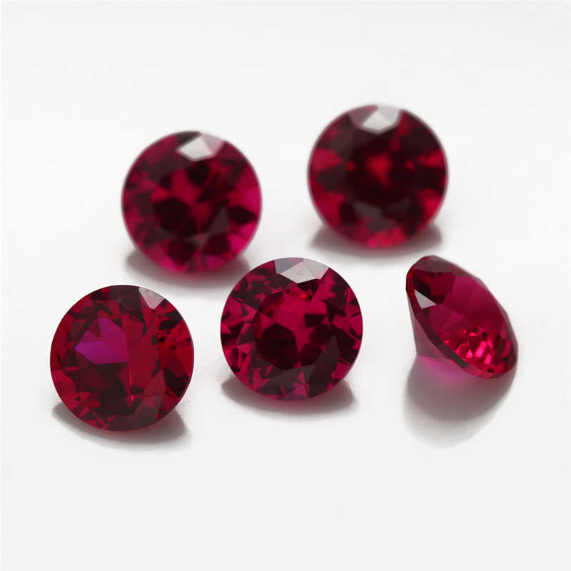 マルチサイズ0.8〜10.0ミリメートル8色ミックスカラー50ピースあたり色黒/ピンク/パープル緩いキュービックジルコニア赤5 #