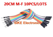 new 10pcs in Row Dupont Cable 20cm 2.54mm 1pin 1p-1p Female to Male jumper wire for Arduino