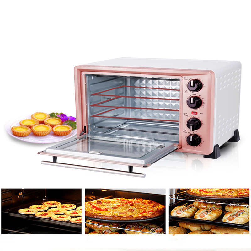 220V 36L Multifunctional Household Electric Oven For Making Bread Cake Pizza Baking Oven With Timer EU/AU/UK/US Plug dmwd mini toaster electric oven multifunction timer making biscuits bread cake pizza cookies baking machine 12l liter 900w eu us page 3