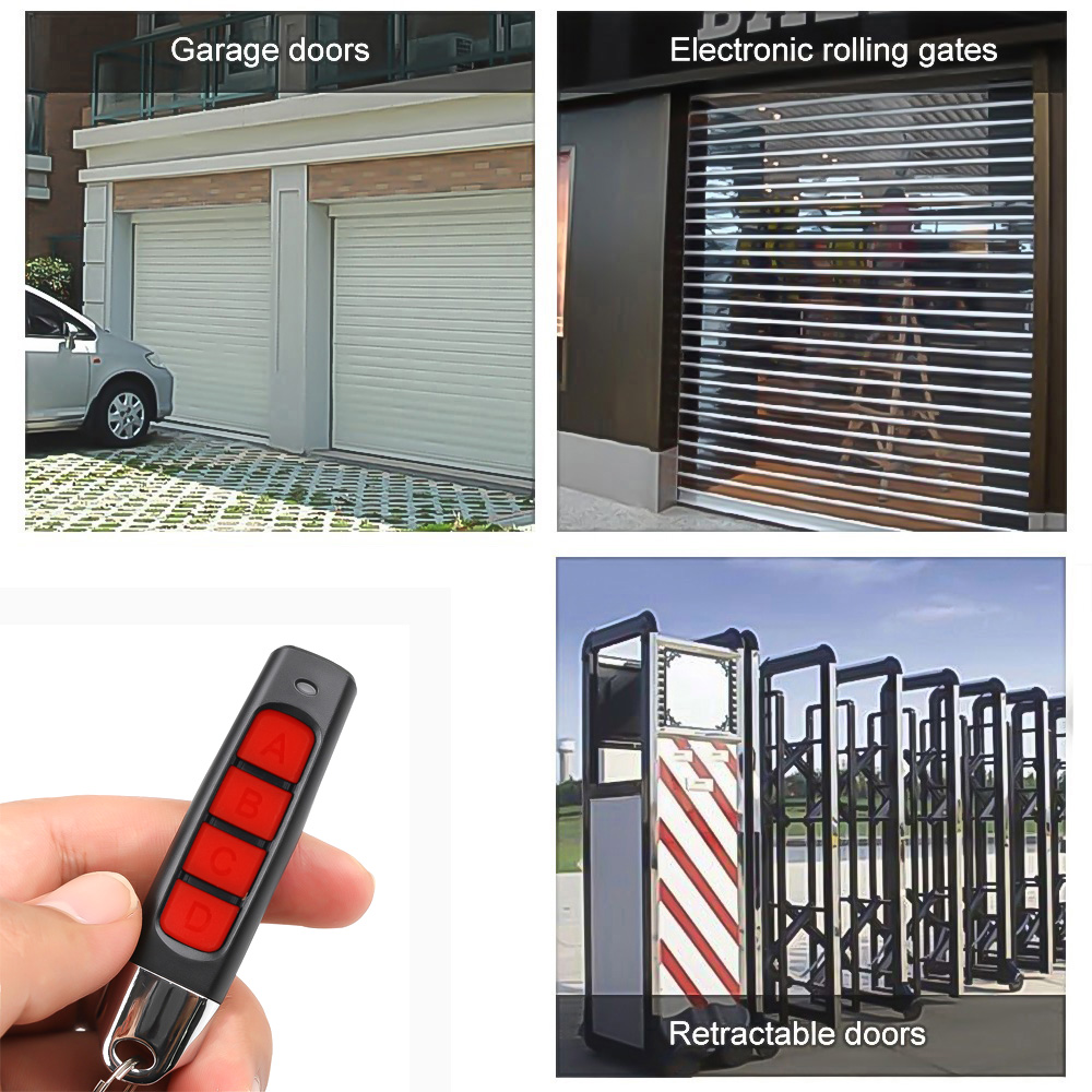 KEBIDU 4 Buttons Clone Remote Control 433MHZ Wireless Transmitter Garage Gate Electric Door Copy Controller Anti-theft Lock Key