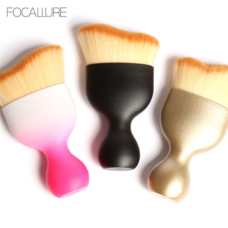 FOCALLURE Contour Foundation Brush BB Cream Makeup Brushes Loose Powder Brush Multifunctional Makeup Brushes