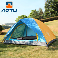 Windproof Waterproof Double Layer 2 person Outdoor Camping Tent Hiking Beach Tent Tourist bedroom travel