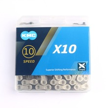 KMC X10 X10.93 MTB цепь для дорожного велосипеда 116L 10 скоростная велосипедная цепь волшебное число горы с оригинальной коробкой для Shimano/SRAM