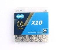 KMC X10 X10.93 MTB Rennrad Kette 116L 10 Geschwindigkeit Fahrrad Kette Magischen Knopf Berg Mit Original box für Shimano /SRAM