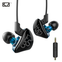KZ ES3 DD BA Hybrid Dynamics Balanced Armature In Ear Earphone HiFi Bass Stereo DJ Monito