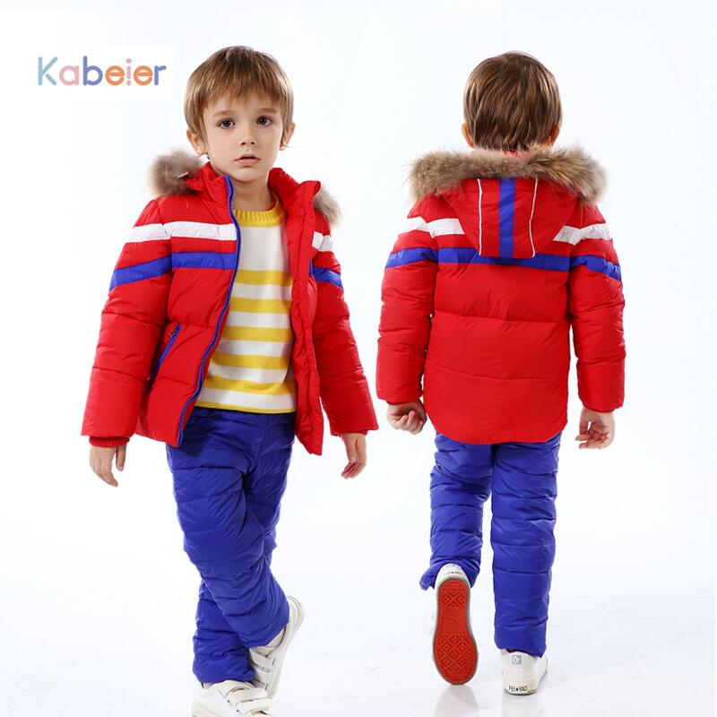 Children Boy Winter Snow Ski Clothing Sets Brand 100% Feather High Qulity Hooded Child Boys Clothes Suit 2 - 5 years Old Outwear kids baby boy clothes sets baby clothing fashion high qulity hooded set for boy outfit toddler infant children suit 0 2 3 years