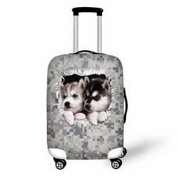 Цифровой камуфляж животное Принт защитный багажный чехол для 18-30 дюймов тележка чемодан эластичный водостойкий багажный чехол
