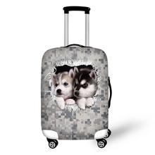 Haiwan camouflage digital Cetak perlindungan beg perlindungan untuk 18-30 inci beg komputer riba perlindungan bagasi perjalanan kalis air elastik