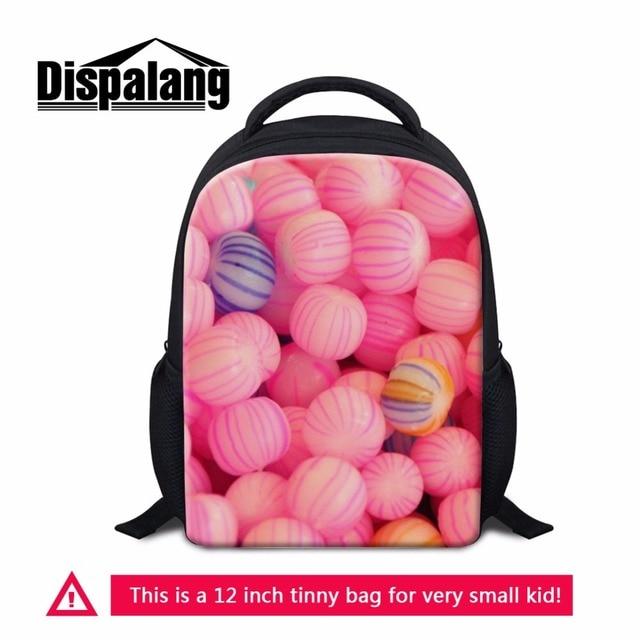 dispalang fancy food prints 12 inch children school bag preschool kindergarten backpack mini kids bags back