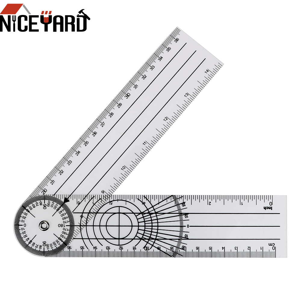 NICEYARD Multifunction Goniometer Angle Medical Spinal Ruler Goniometer Protractors Measuring Tool 360 Degree Rotation