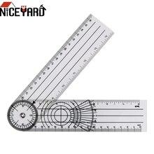 NICEYARD Multifunktions Goniometer Winkel Medizinische Spinal Herrscher Goniometer Protractors Messung Werkzeug 360 Grad Rotation