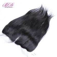 Peruvian Lace Frontal Closure with Baby Hair 13×4 Straight Virgin Hair Full Frontal Lace Closure Three Part Human Hair BD Hair