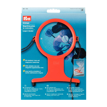 Germany Prym magnifying glass 611731, red, magnifying glass for embroidery, patchwork, handmade diy