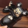 Série Mickey das crianças Do Bebê Meninas Sapatos Sapatos À Prova D' Água Deslizamento e Queda de Inverno Favorito Vermelho Preto Autumn & Winter Dress Up xz7