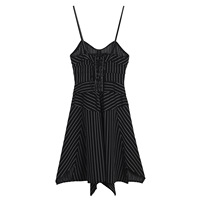 Ky Q Summer Sexy Long Slip Backless Women Black Mini Dresses 2018 Camis Strapless Short Party