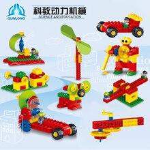 102 шт Строительные блоки Большие размеры науки техника громады Мощность механических передач стойки разъемы Совместимость легион детские игрушечные фигурки