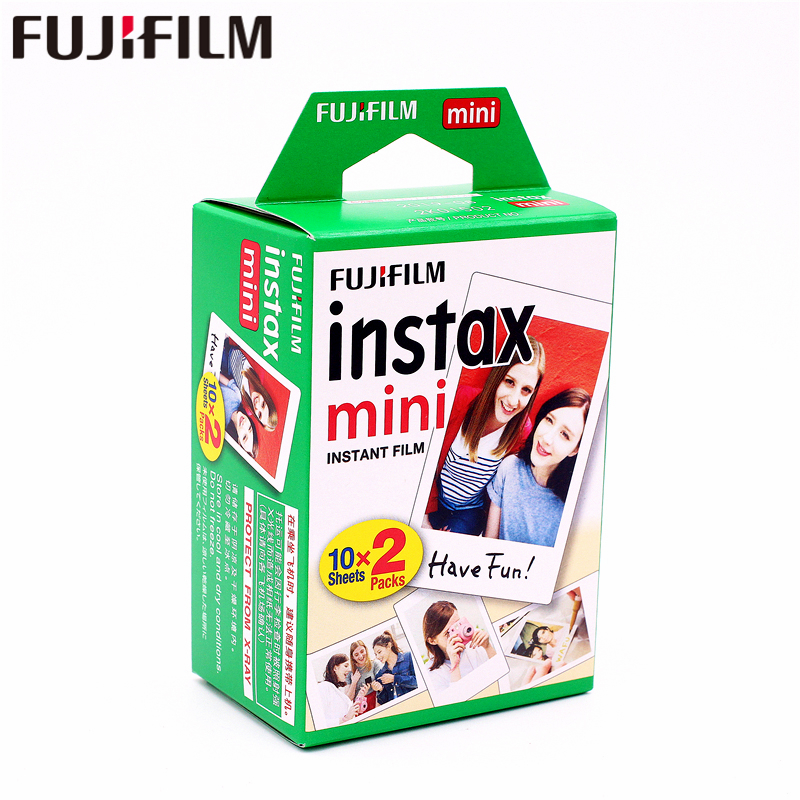 цена Original Fuji Fujifilm instax mini 8 film 20 sheets white Edge film for instax Instant Camera mini 8 7s 25 50s 90 9 photo paper