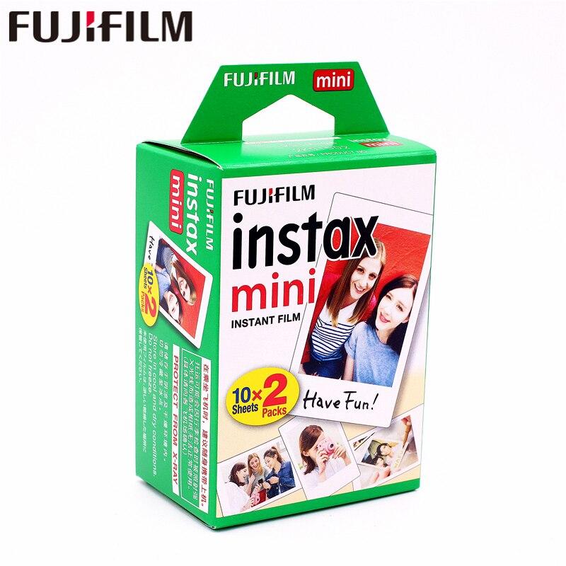 Original Fuji Fujifilm instax mini 8 película 20 hojas white Edge film para instax cámara instantánea mini 8 7 S 25 50 S 90 9 papel fotográfico