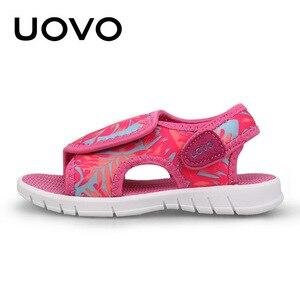 Image 3 - UOVO bebek yürümeye başlayan sandalet 2020 yaz ayakkabı kızlar ve erkekler için hafif taban çocuk sandalet yüksek kalite boyutu 24 # 32 #
