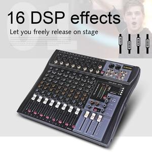 Image 2 - G MARK MR80Sオーディオミキサー音楽スタジオミキシングコンソールアナログミキサー7モノラル1ステレオusb MP3 bluetooth 48v電源クリスマスパーティー