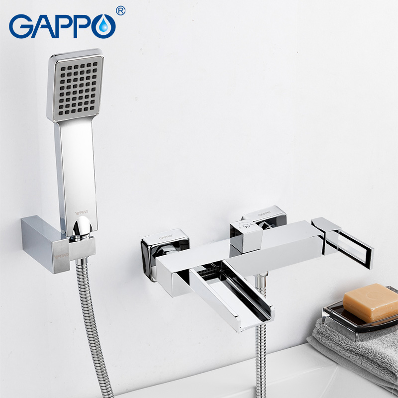 GAPPO Bathtub faucet bathtub shower bath tub faucet mixer taps waterfall deck mounted bath tub mixer