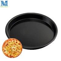 9 pulgadas antiadherente pizza pan de aleación de aluminio redonda bandeja de hornear pastel pizza placa para horno