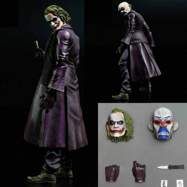 Playarts PLAY ARTS KAI Batman The Dark Knight The Joker PVC Action Figure Colletible Model Toy 25cm hot wheels batman 3 pack cars includes bone shaker special the joker edition the dark knight batmobile and ford fusion