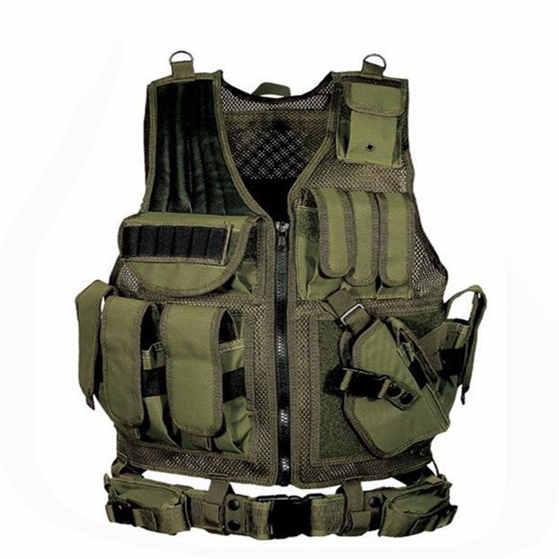 Adjustable Military Equipment Tactical Vest Airsoft Paintball Molle Vest Chest Protective Combat Vest For CS Hunting 4 Colors