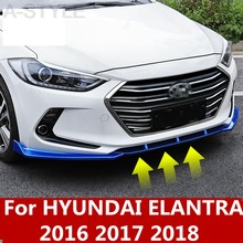 Per hyundai Elantra 2016 2017 2018 ABS Cromato paraurti anteriore lip anti-graffio anti-graffio anti-graffio paraurti anteriore Accessori(China)