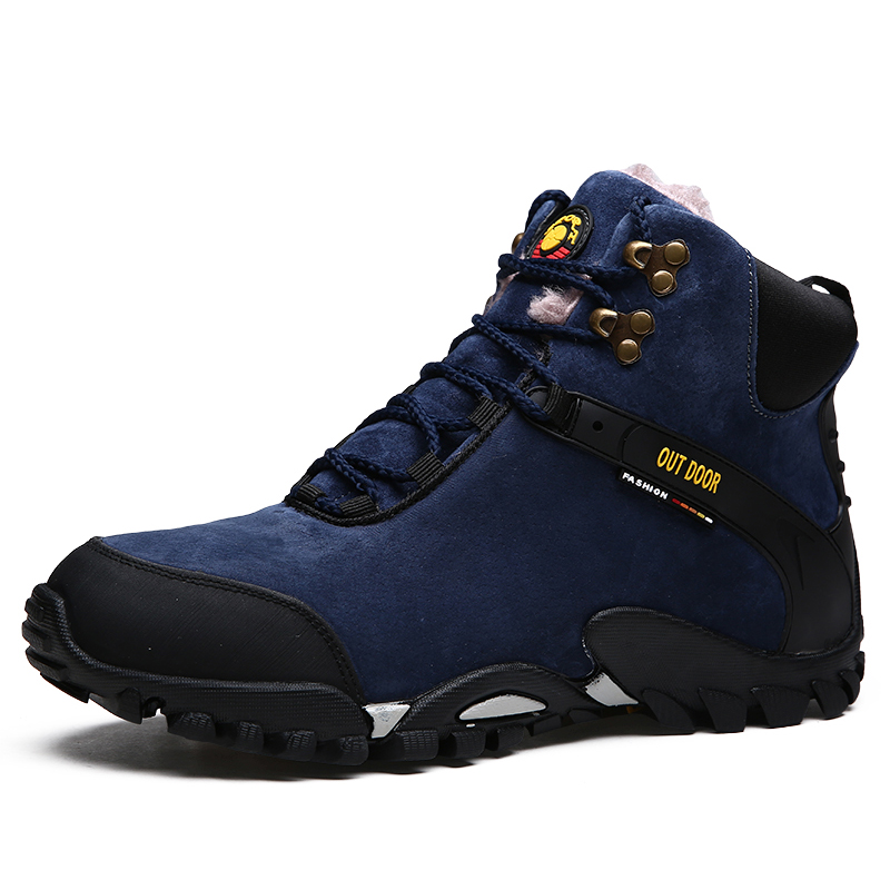 Winter Waterproof  Mens Outdoor Trekking Hiking Shoes Boots Men Sport Climbing Shoes sneakers Man Senderismo zapatillas hombre yin qi shi man winter outdoor shoes hiking camping trip high top hiking boots cow leather durable female plush warm outdoor boot