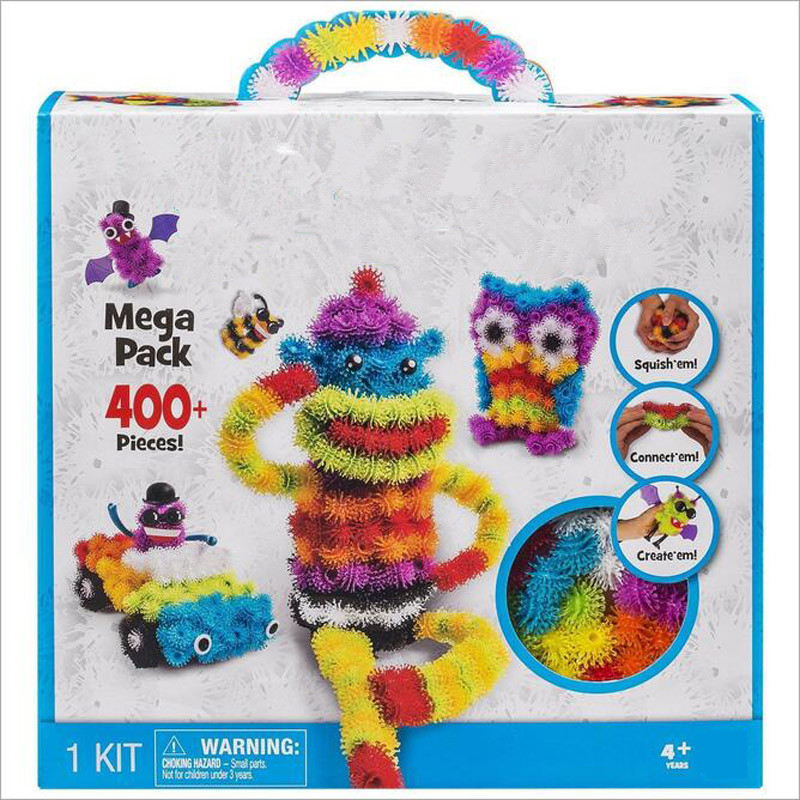 2016 Magic Puffer Ball 1000 Pieces Accessories Build Mega Pack Animals DIY Assembling Best Block bunch Toy Gift For Children ems magic ball 8 доставка снг