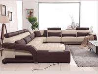 modern style living room Genuine leather sofa a1310