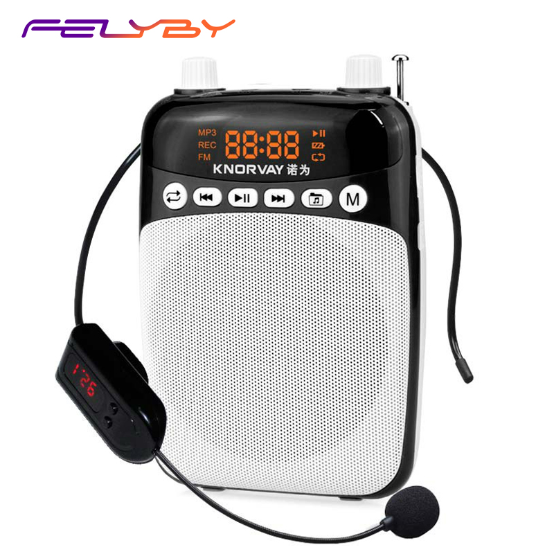 FELYBY S308 Mobile Mini Speaker Headphone Microphone Portable Voice Amplifier Loudspeaker for teaching