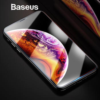 Baseus Screen Protector For iPhone Xs Max Xs XR Glass 0.3mm Thin 9H Tempered Glass For iPhone Xs Max X Protective Glass 2018 Phone Screen Protectors