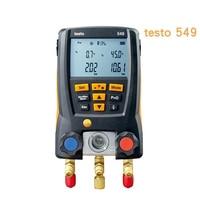 Testo 549 Digital Manifold Gauge Refrigeration Air Pressure Gauge for Refrigerant Manifold Gauge Set 2pcs Clamp Probes Tool