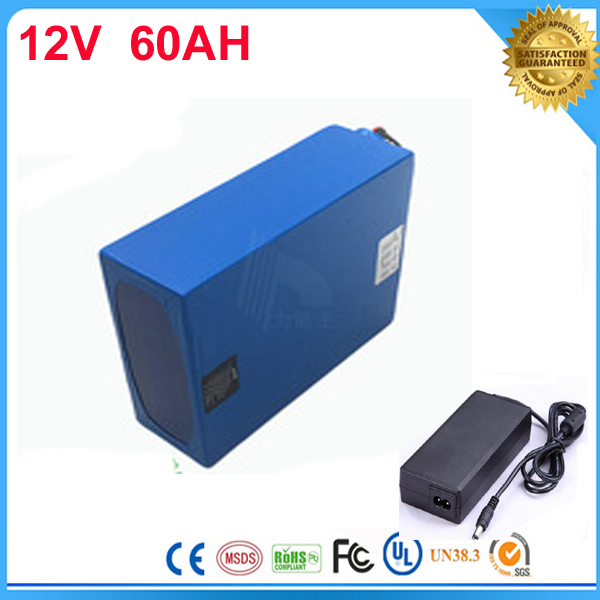 1pcs   electric bicycle battery  12V 60AH rechargeable lithium ion battery 12v 60ah ebike lithium battery pack with charger  12v 200ah rechargeable lithium battery pack for ebike storage energy or solar power and ups with 5a fast charger
