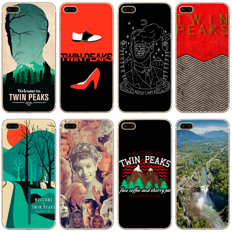 G376 Welcome To Twin Peaks Transparent Hard Thin Case Cover For Apple iPhone 4 4S 5 5S SE 5C 6 6S 7 8 X Plus