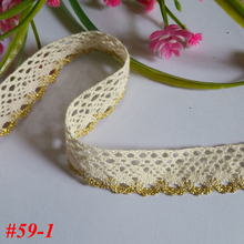 wholesale 24yards/lot 20mm DIY delicate beautiful 100% cotton lace Beige textile clothing decorative accessories NO591