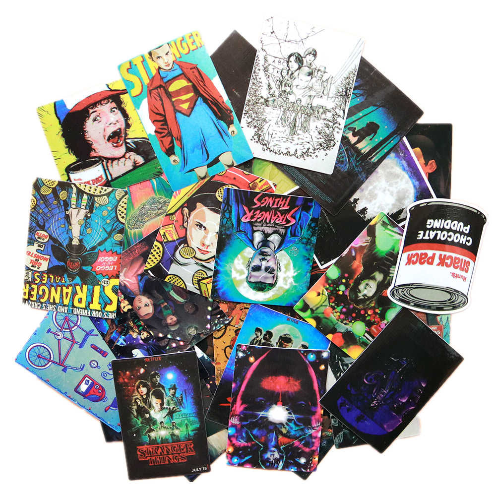 36pcs/lot Stranger Things Stickers American cartoon Movie For Car Laptop Motorcycle Notebook Waterproof Stickers children git