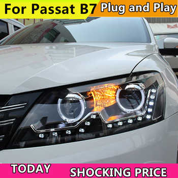 Car Styling for VW Volkswagen Passat B7 LED Headlights 2011-2015 LED Headlight DRL Bi Xenon Lens High Low Beam Front HeadLamp - DISCOUNT ITEM  20% OFF All Category