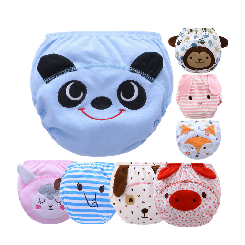 Hot Selling Cotton Baby Reusable Diapers Washable Cloth Diaper Cover Children Baby Boys Girls Nappies Swim Nappy Training Pants