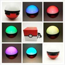 30ชิ้นPokeballสำรองสำหรับPokemonsไปแบบDual USB 10000-12000มิลลิแอมป์ชั่วโมงLEDที่มีสีสันแสงอย่างรวดเร็วชาร์จบลูทูธลำโพงบัตรTF
